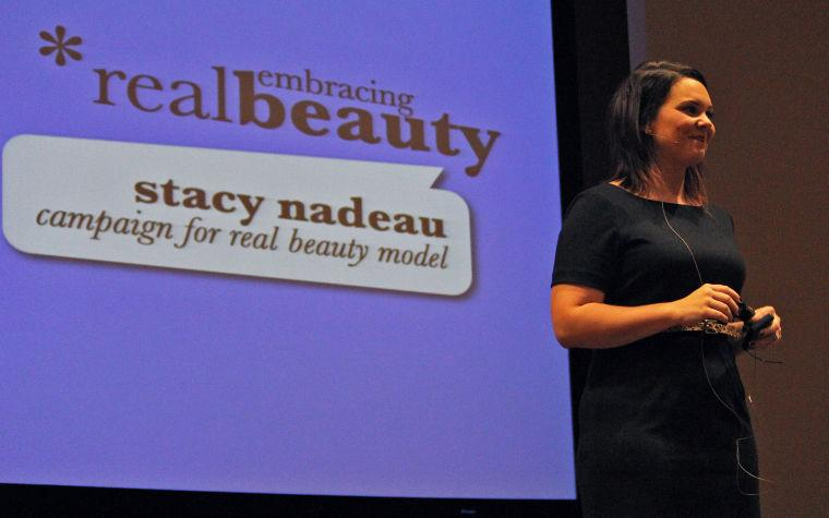 Dove Real Beauty Model, Stacy Nadeau, speaks at HUB Auditorium