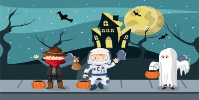 halloween mask graphic