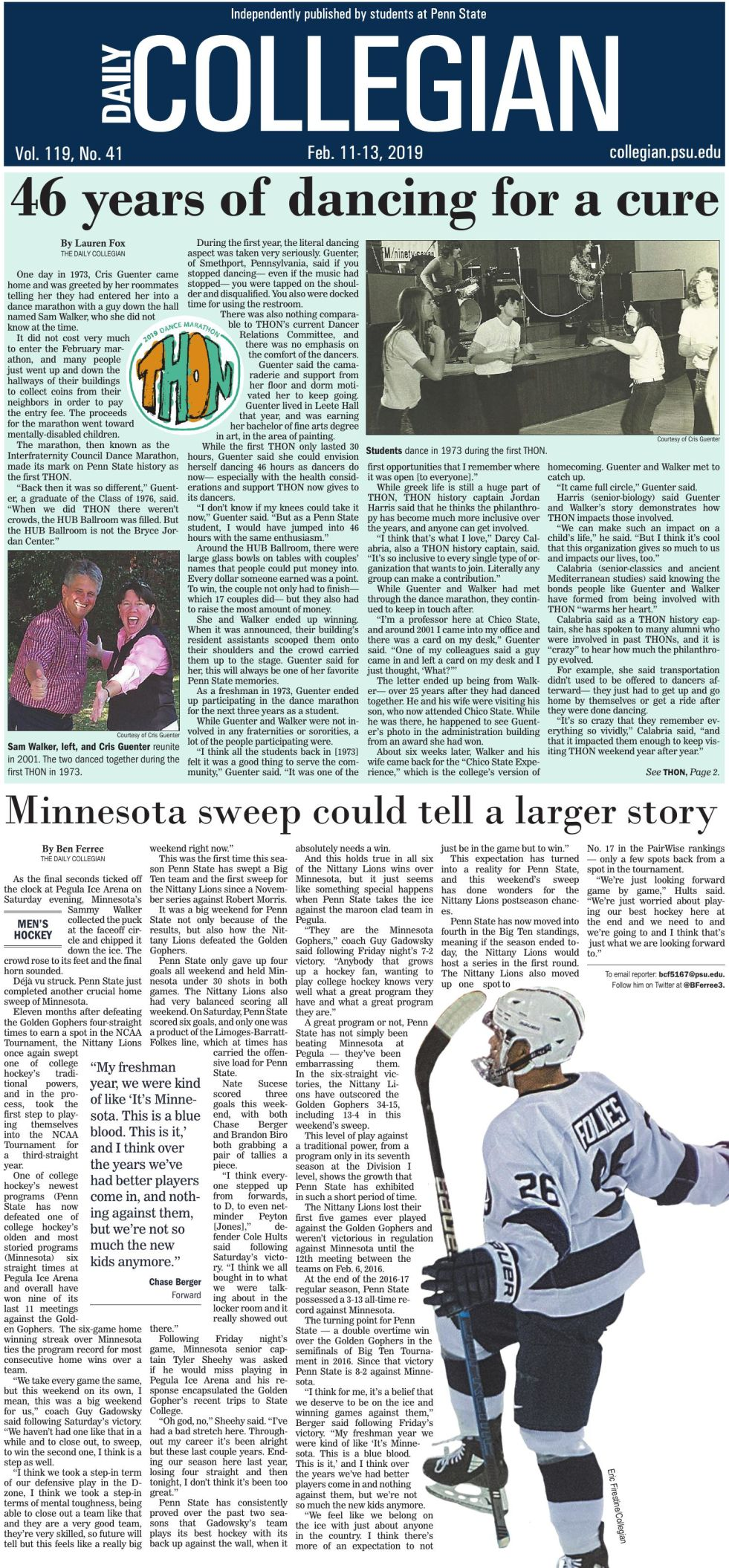 The Daily Collegian for Feb. 11, 2019