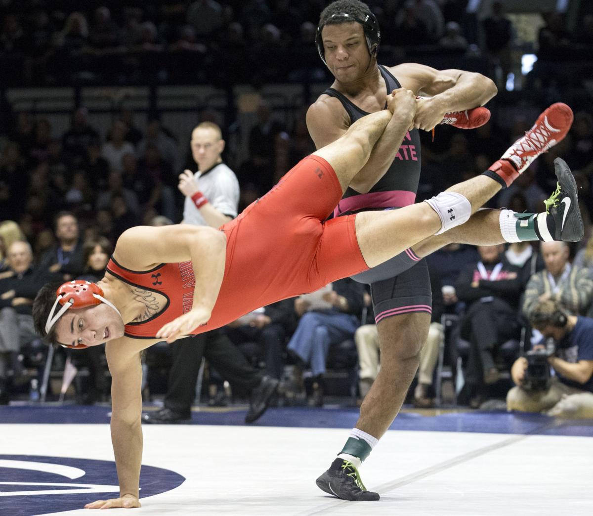 Penn State wrestling's Mark Hall has impressive first ...