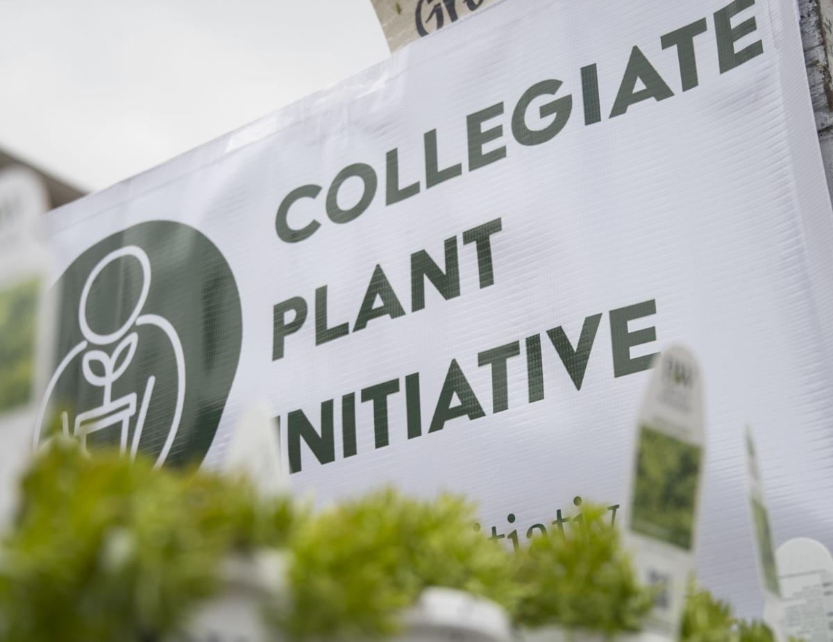Collegiate Plant Initiative Sign