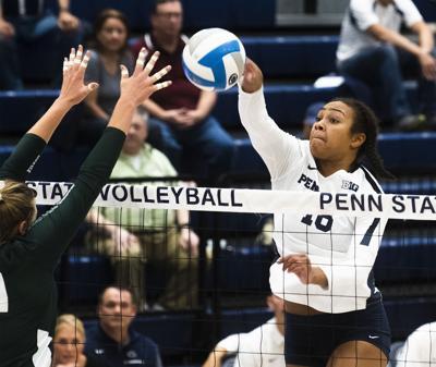 Women's Volleyball vs. Michigan State, Gray (16) Spikes