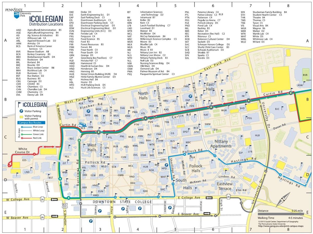 Daily Collegian Campus Distribution Points