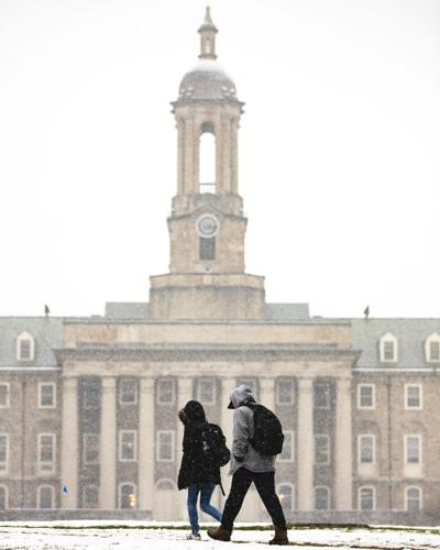 Walking to Class in the Snow