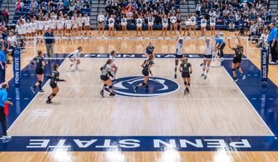 Penn State women's volleyball vs Purdue, Tori Gorrell (11) spikes
