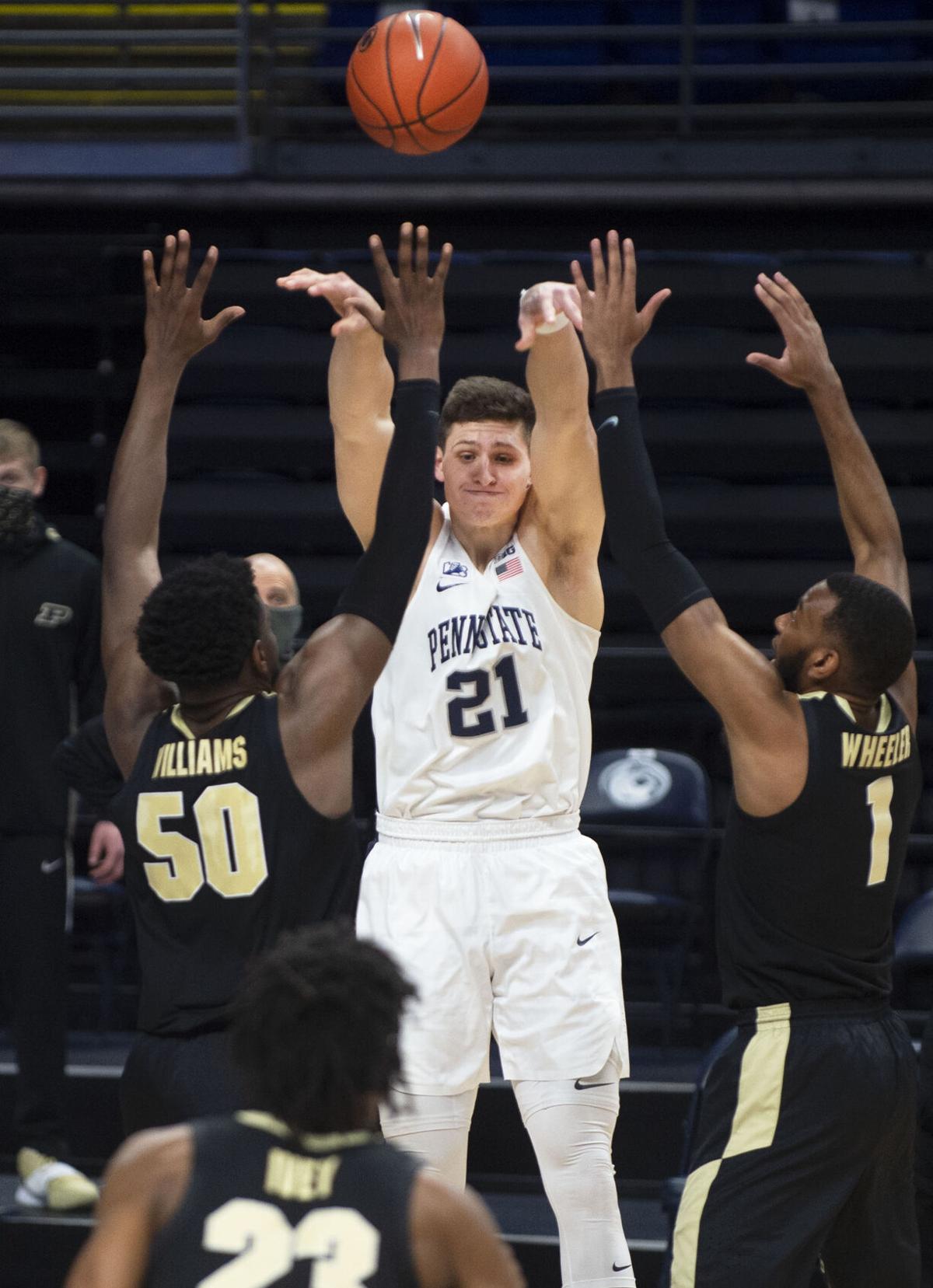 Penn State Men's Basketball vs Purdue, Harrar (21)