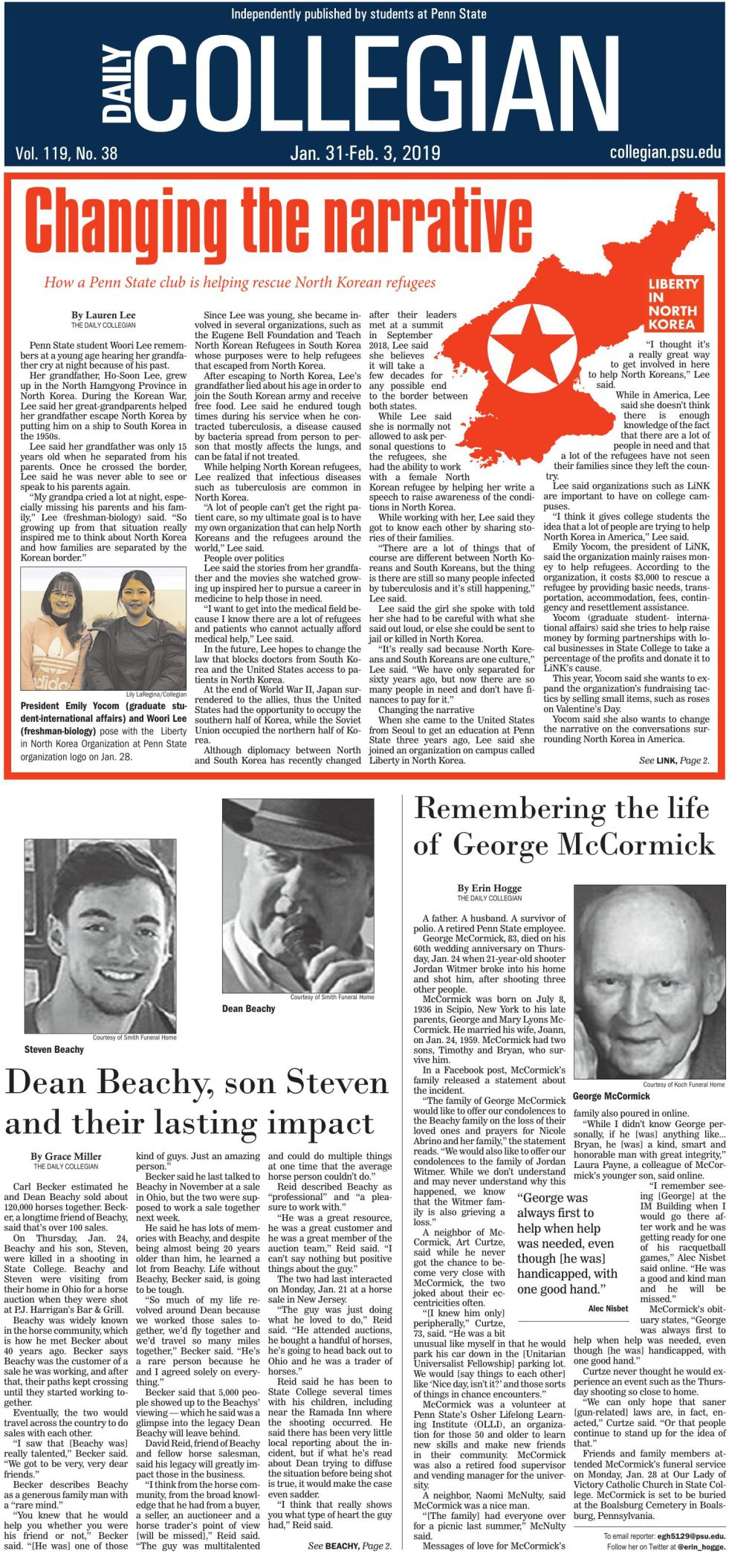 The Daily Collegian for Jan. 31, 2019