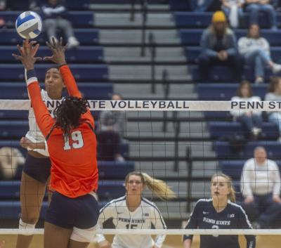 NCAA Women's Volleyball Regional second round, Kaitlyn Hord (23) spikes