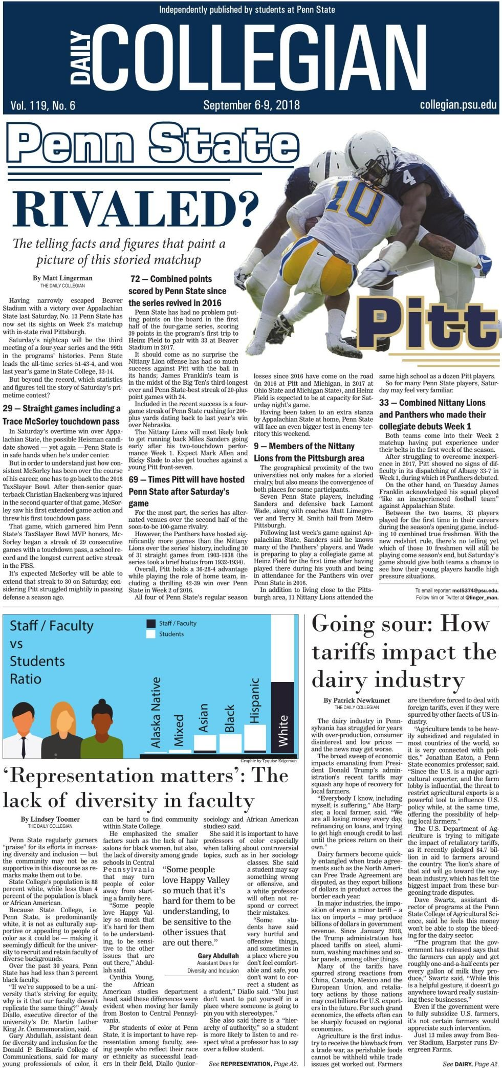 The Daily Collegian for Sept. 6, 2018