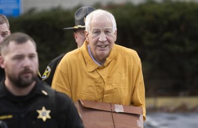 Jerry Sandusky Resentencing, Walk to patrol vehicle