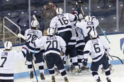 Penn State Men's Hockey vs. Arizona State, Celebration after Winning