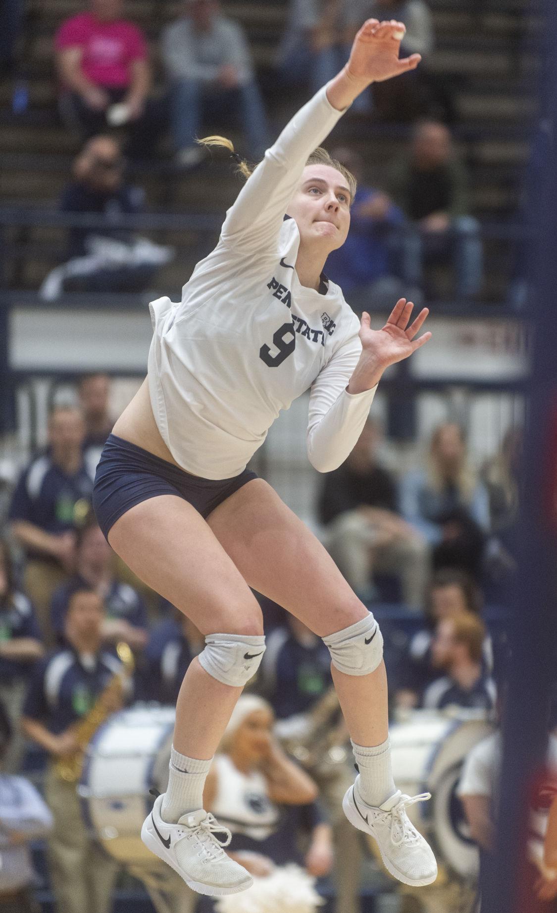 NCAA Women's Volleyball Regional second round, Jonni Parker (9) serves