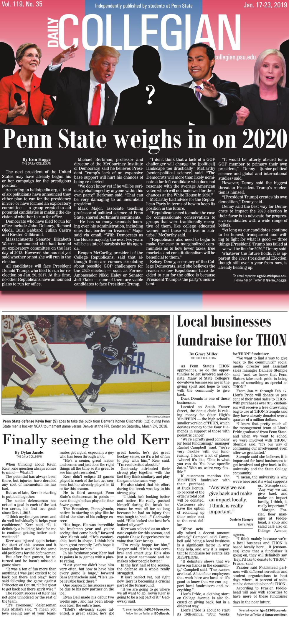 The Daily Collegian for Jan. 17, 2019