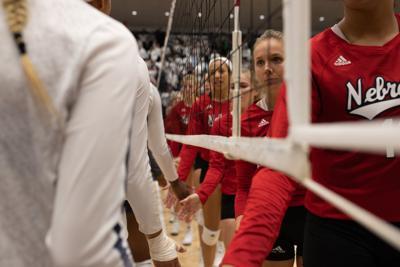 Women's Volleyball, Nebraska, Hand Shakes