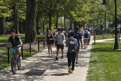 First day of classes, students on campus