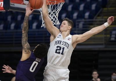 Penn State Men's Basketball vs Northwestern, Harrar (21)