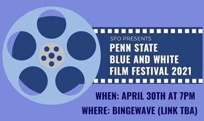 Blue and White Film Festival Flyer 2021