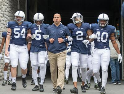quality design 07ad6 7887d James Franklin talks Penn State football's retro uniforms ...
