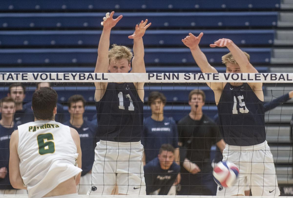 Penn State men's volleyball vs George Mason, Cameron Bartus (11) and Canyon Tuman (15)