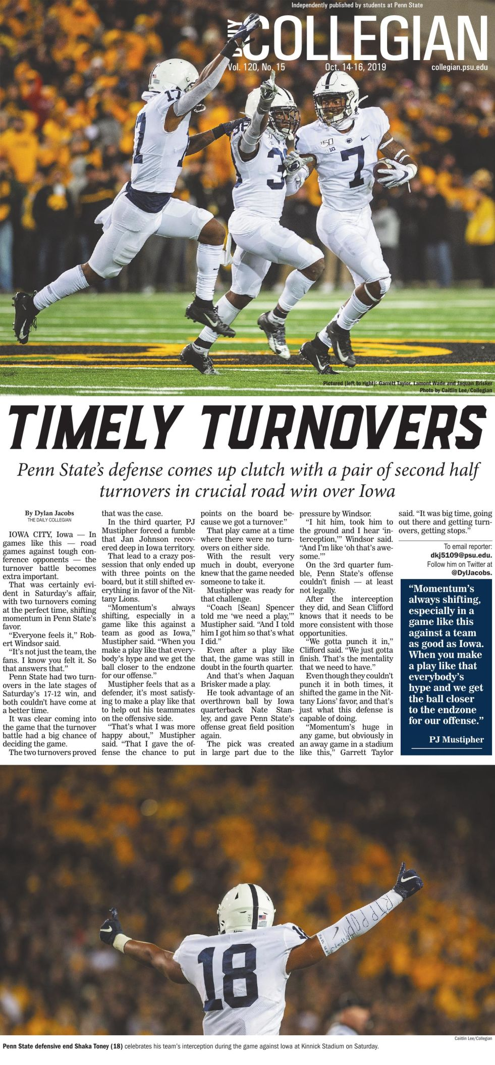 The Daily Collegian for Oct. 14, 2019