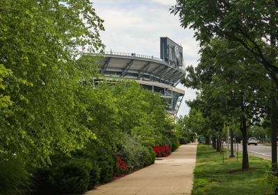 Beaver Stadium, greenery