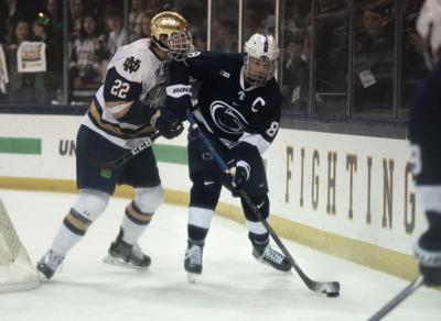 Big Ten Men's Ice Hockey Tournament Championship Game vs. Notre Dame, Berger (8)