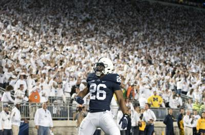 premium selection 8db72 f9ff2 Penn State football's Saquon Barkley wins 3 Big Ten football ...
