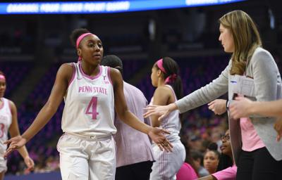 Women's Basketball v. Illinois, Play4Kay game, Siyeh Frazier (4)