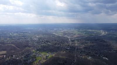 Drone Shot of PSU from Mt. Nittany