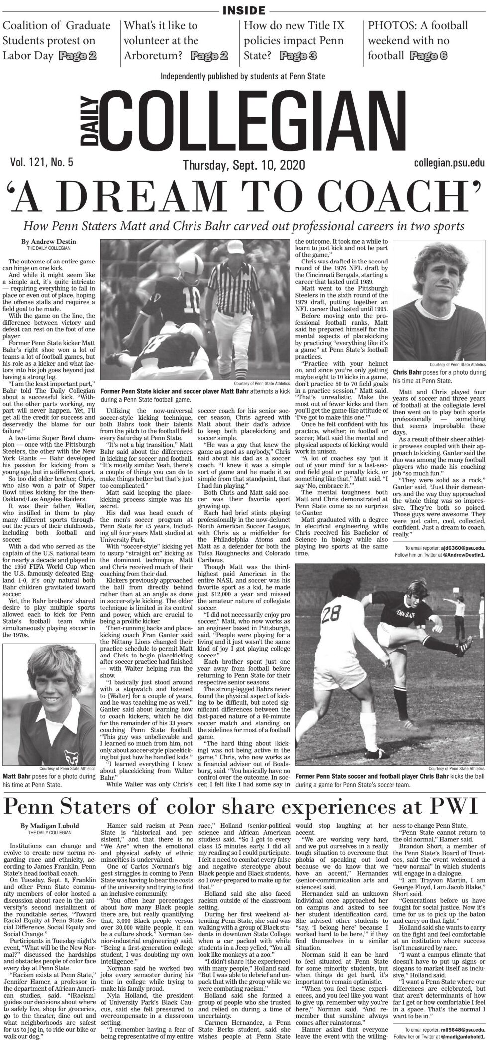 The Daily Collegian for Sept. 10, 2020