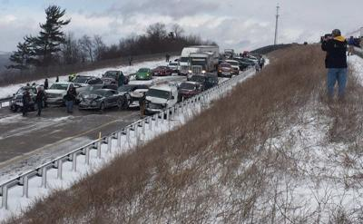 Multi-car pile-up causes massive travel delays | Crime & Courts