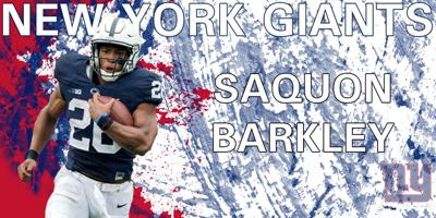 2018 NFL Draft  Saquon Barkley selected by the New York Giants with ... f05dfaa35