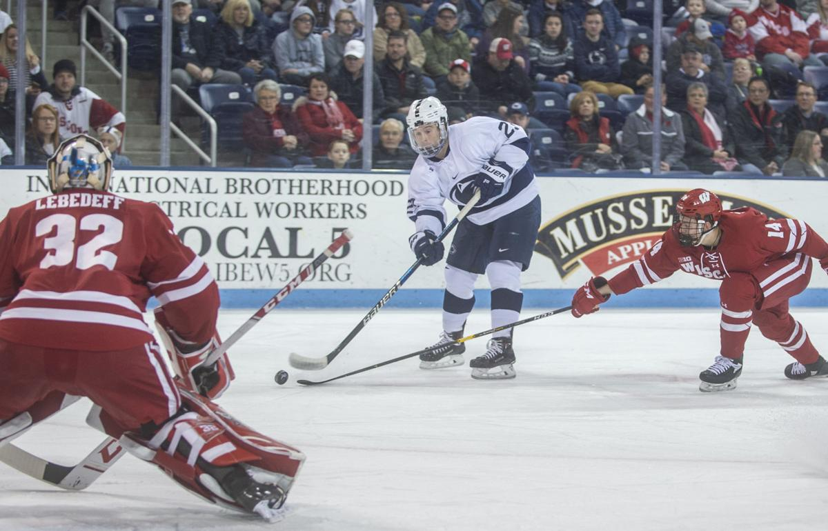 Penn State men's hockey vs Wisconsin, Blake Gober (23)