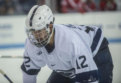 Penn State men's hockey vs Wisconsin, Ludvig Larsson (12)