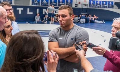 Penn State wrestling media day, Anthony Cassar