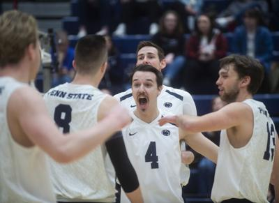 Men's Volleyball vs. St. Francis, Team Celebrates