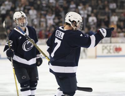 Men's hockey vs. Ottawa, Bell (7) and Stevens (22)