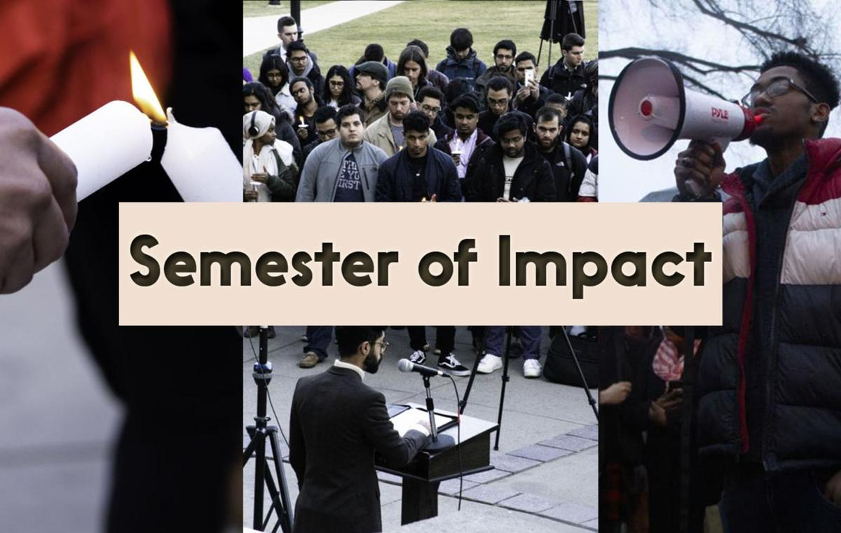 Hate, impact and too many vigils — chronicling a semester of