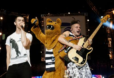 Nittany Lion and DNCE