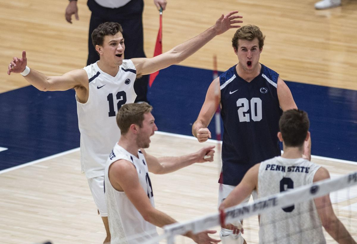 Penn State Men S Volleyball Dominates From Start To Finish Sweeping George Mason Penn State Volleyball News Daily Collegian Collegian Psu Edu