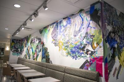 Hub Mural, wide shot