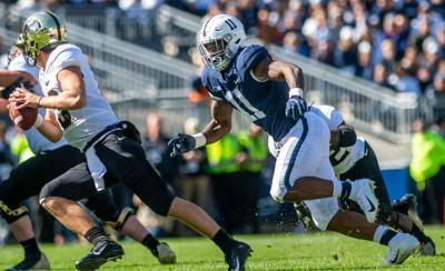 Penn State vs Purdue, Micah Parsons (11) sack