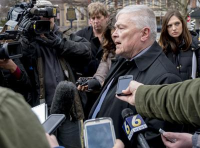 President Eric Barron addresses media after introduction of new antihazing law