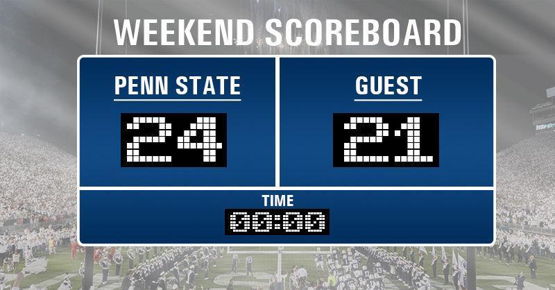 Scoreboard: Penn State scores from the weekend