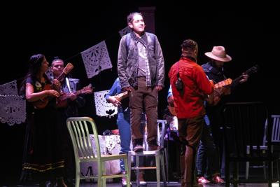 Actor Roberto Tolentino sings during 'Fandango for Butterflies (and Coyotes)' performance