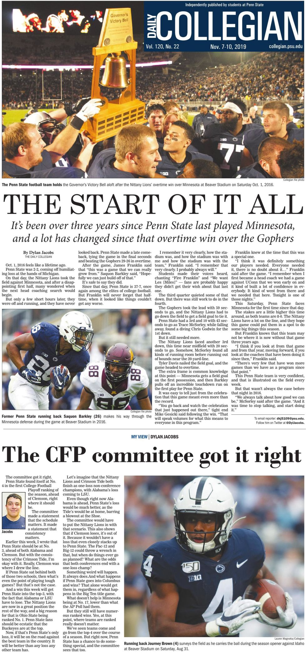 The Daily Collegian for Nov. 7, 2019