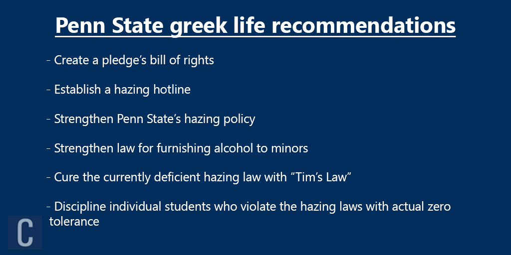 penn state recommendations