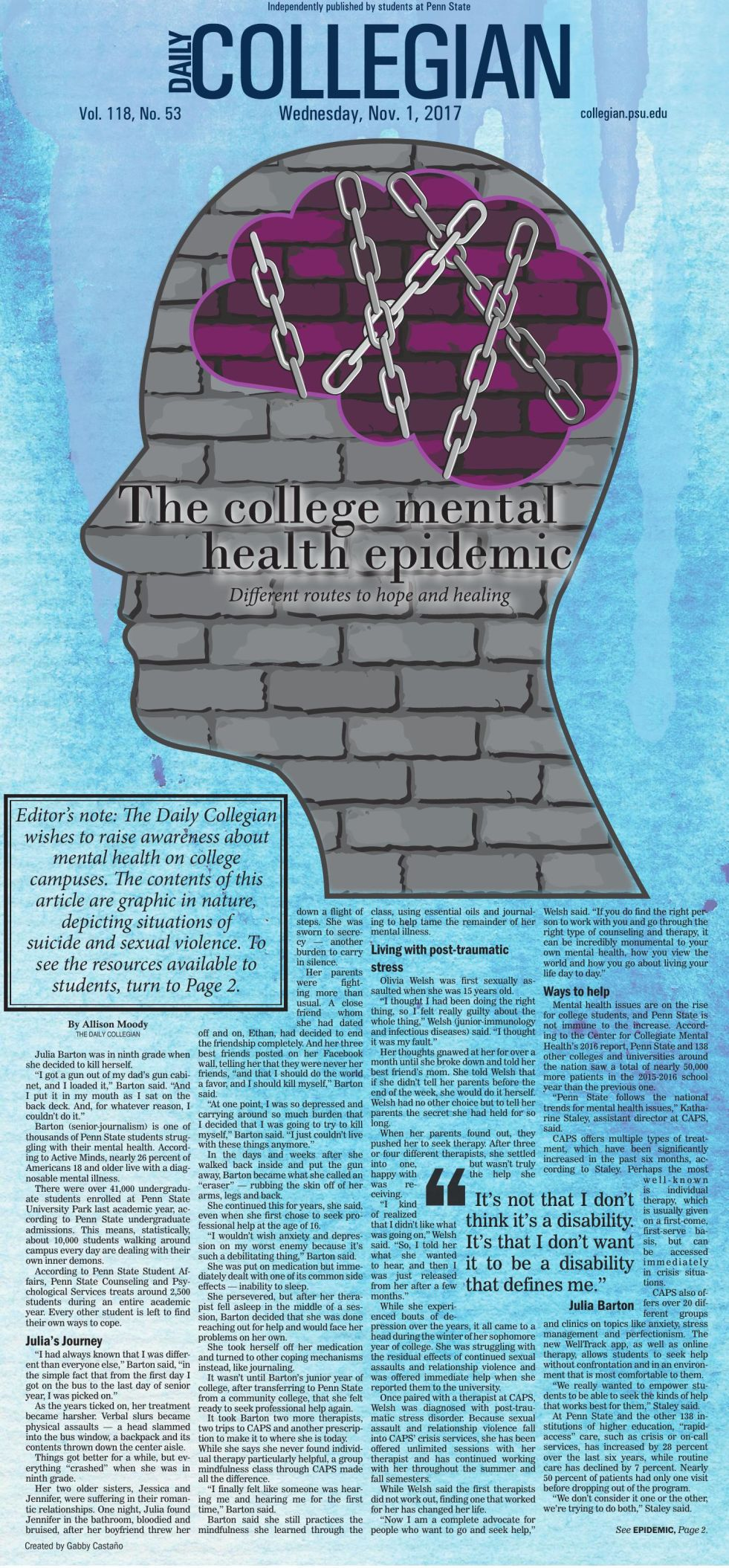 The college mental health epidemic: Different routes to hope and ...