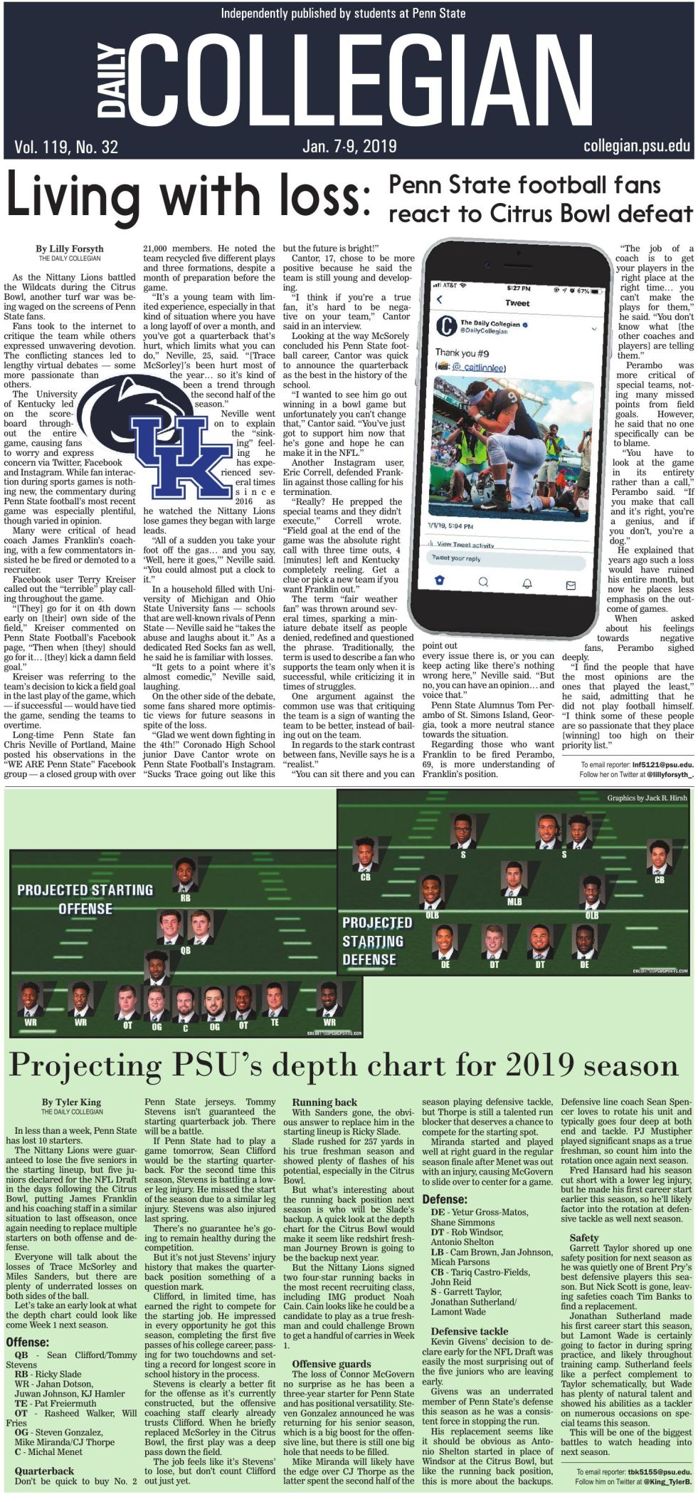 The Daily Collegian for Jan. 7, 2019