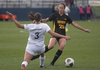 Women's Soccer vs Iowa, Riehl (3)